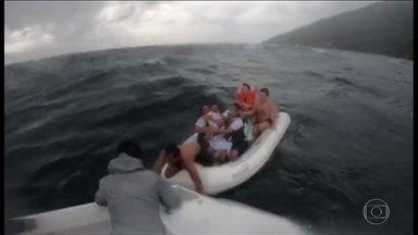 Ventos de mais de 100 km/h provocam destruição e mortes no litoral de SP - Modelo Caroline Bittencourt morreu depois de cair de uma lancha onde estava com o marido em Ilhabela. Duas pessoas morreram em São Vicente.