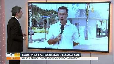 Cinco casos de caxumba fazem faculdade da Asa Sul suspender as aulas - Os cinco casos de caxumba foram confirmados pelo Instituto Brasiliense de Direito Público, que suspendeu as aulas nos dias 29 e 30 de abril.