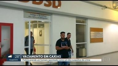 Polícia prende suspeito de ter participado de roubo de combustível em Duque de Caxias - A polícia prendeu um homem apontado de ter participado do roubo de combustível que terminou em vazamento em Duque de Caxias.