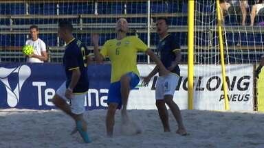 Brasil goleia o Equador e garante vaga nas semifinais das Eliminatórias da Copa do mundo de Futebol de Areia - Brasil goleia o Equador e garante vaga nas semifinais das Eliminatórias da Copa do mundo de Futebol de Areia