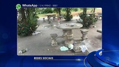 Confira as reclamações de moradores pelo WhatsApp da TV TEM - Moradores de cidades da região usam as redes sociais da TV TEM para enviar suas reclamações sobre problemas em suas cidades.