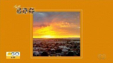 Telespectadores enviam fotos do amanhecer para o Bom Dia Goiás - Veja as belas imagens.