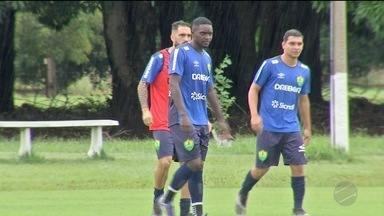 Boas notícias do Cuiabá, o atacante Caio Dantas está liberado pro jogo e pode ser a estrei - Boas notícias do Cuiabá, o atacante Caio Dantas está liberado pro jogo e pode ser a estreia do Escudero no Dourado.