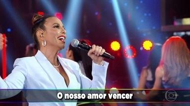 Ivete Sangalo canta 'O Nosso Amor Venceu' - Faustão apresenta a banda que acompanha a cantora