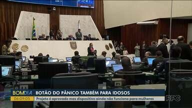 Botão do Pânico também para idosos - Projeto é aprovado, mas dispositivo ainda não funciona para mulheres.