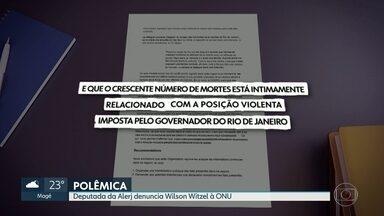 Presidente da Comissão de Direitos Humanos da Alerj denuncia governador à ONU - Renata Souza diz que Wilson Witzel lidera política de massacre e cita sobrevoo em helicóptero que disparou contra comunidade de Angra no último sábado.