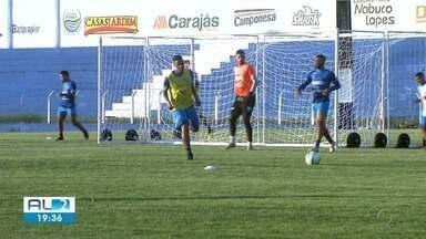CSA se prepara para enfrentar o Avaí. CRB entra em campo contra o Juazeirense - Jogo do CSA não teve gols. CRB joga pela Copa do Nordeste.