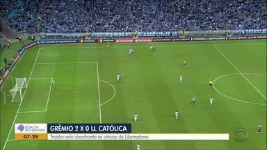 Grêmio não dá bobeira, vira chave e vence Universidad Católica - Reveja os gols da partida.