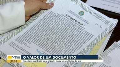 Audiência pública debate taxas em cartórios de MS nesta quinta-feira - Evento será realizado na sede do Tribunal de Justiça, em Campo Grande.