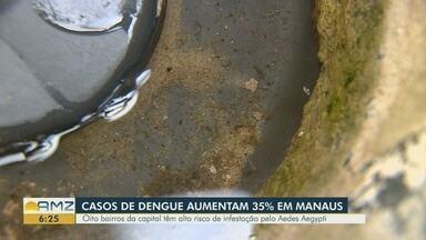 Casos de dengue aumentam 35% em Manaus - Oito bairros da capital têm alto risco de infestação pelo Aedes Aegypti.
