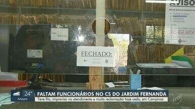 Centro de Saúde do Jardim Fernanda está sem recepcionista - Médicos precisaram improvisar atendimento nesta quinta-feira (9), no Centro de Saúde do Jardim Fernanda, em Campinas (SP).