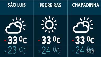 Confira a previsão do tempo no Maranhão - Segundo a meteorologia, São Luís terá nesta quinta-feira (9) tempo parcialmente nublado com mínima de 23 graus e máxima de 33.