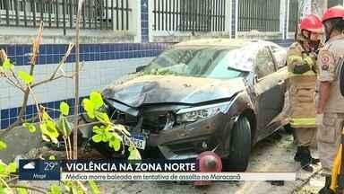 Médica é morta em tentativa de assalto no Maracanã - A Médica Daniele Vivian de Almeida foi baleada na manhã desta sexta (10) em uma tentativa de assalto no Maracanã. A médica tentou dirigir para fugir dos bandidos e acabou atropelando 3 pessoas numa calçada.