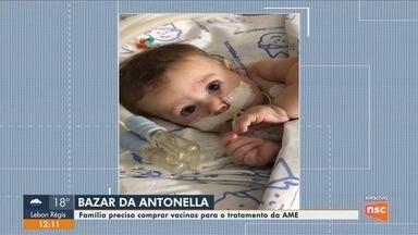 Bazar para ajudar no tratamento de bebê com AME será realizado em Florianópolis - Bazar para ajudar no tratamento de bebê com AME será realizado em Florianópolis
