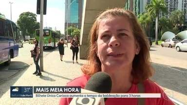 O O Intervalo pra gratuidade na baldeação dos ônibus municipais aumentou - os passageiros têm agora 3 horas pra embarcar no segundo ônibus municipal do Rio, de graça