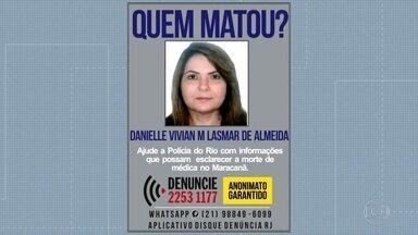 Divisão de Homicídios busca testemunhas do assassinato de médica no Maracanã - A médica Vivian Lasmar de Almeida foi morta em uma tentativa de assalto e será cremada neste domingo (12).