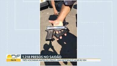 Três presos do saídão de Dia das Mães voltaram mais cedo para a cadeia - Dois deles foram pegos em Taguatinga e um na Rodoviária do Plano Piloto.