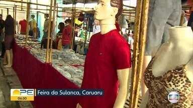 Estrutura provisória permite que comerciantes voltem à Feira da Sulanca após incêndio - Há uma semana, fogo destruiu mercadorias de inúmeros lojistas.