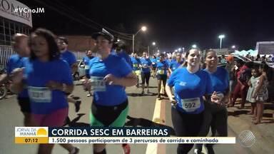 Barreiras recebe mais uma etapa do Circuito Sesc de Caminhada e Corrida - O evento foi realizado no turno da noite; confira.
