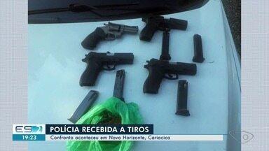 Armas e drogas são apreendidas em operação em Cariacica, ES - Houve troca de tiros entre criminosos e policiais durante ação da PM.