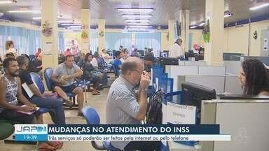 INSS anuncia mudanças no atendimento ao público no AP - Três serviços só poderão ser feitos pela internet ou pelo telefone.