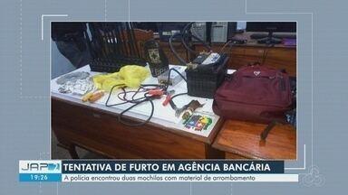 Em tentativa de furto a banco no AP, invasores se assustam com alarmes e abandonam prédio - Invasão aconteceu na madrugada desta segunda-feira (13). Ninguém foi preso.