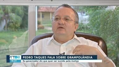 Pedro Taques fala sobre suspeita de envolvimento dele na Grampolândia Pantaneira - Pedro Taques fala sobre suspeita de envolvimento dele na Grampolândia Pantaneira.