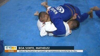 Atleta de Cachoeiro, no ES, vai competir em campeonato mundial de Jiu Jitsu - Matheu embarca em maio para os Estados Unidos.