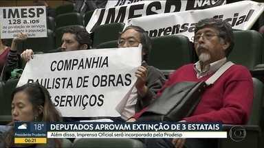 Alesp aprova projeto que prevê a extinção de três empresas estaduais - Os deputados estaduais aprovaram na noite de quarta-feira (15) o fim da Codasp, CPOS e da Emplasa.