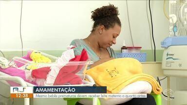 Amamentação: mesmo bebês prematuros devem receber leite materno - Leite é o mais rico em proteínas e nutrientes que pode ser dado ao bebê.