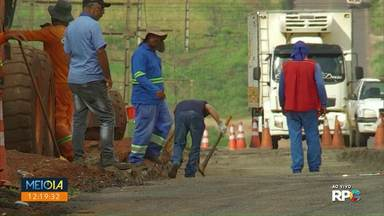Moradores reclamam de andamento de obras no Contorno Sul - Prefeitura de Maringá diz que a obra está dentro do cronograma.