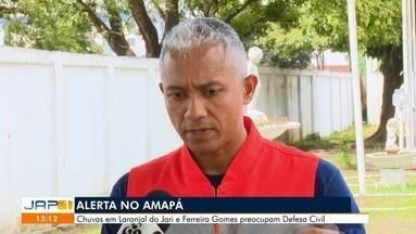 Alerta de enchentes nos municípios do Amapá - Chuvas em Laranjal do Jari e Ferreira Gomes preocupam Defesa Civil.