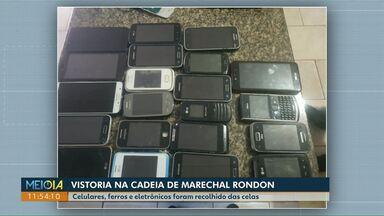 Celulares, ferros e eletrônicos são recolhidos de cadeia de Marechal Cândido Rondon - Vistoria foi nesta quarta.