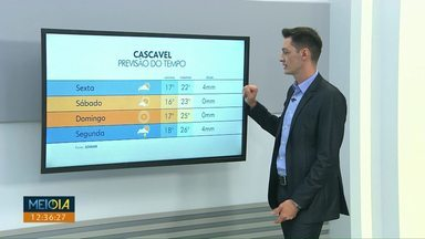 Previsão é de chuva em Cascavel e região - Temperaturas começam a subir.