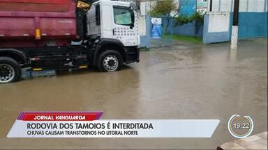 Chuva causa transtornos no litoral norte - Tamoios foi fechada.