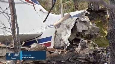 Investigação em andamento - Polícia recolheu os destroços do avião que caiu, após decolar do Santa Maria.