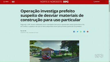 Gaeco faz Operação de busca e apreensão na prefeitura de Uniflor - Prefeito da cidade é investigado por compra irregular de material de construção.