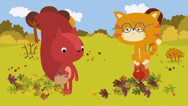 Frutos De Outono - Esquila está aflita, pois está atrasada na coleta dos frutos de outono. Misho e Robin oferecem ajuda, mas primeiro eles precisam aprender sobre os frutos de outono.