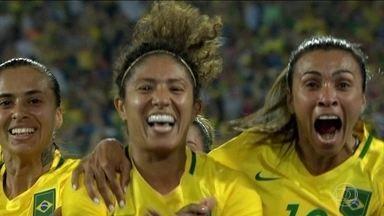 Seleção brasileira de futebol feminino é convocada para a Copa do Mundo na França - Das 23 jogadoras escolhidas pelo técnico Vadão, 15 já disputaram pelo menos uma Copa do Mundo, como Marta, Cristiane e Formiga. Para as outras, como a atacante Ludmila, tudo é novidade. A estreia da Seleção será no dia 09/06, contra a Jamaica.