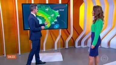 Previsão alerta para chuva no Sudeste do país nesta sexta-feira (17) - Deve chover também no Norte do país. Confira como vai ficar o tempo em todo o país.