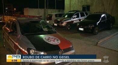 Idoso é espancado durante roubo de táxi, em João Pessoa - Vítima foi socorrido por um homem que passava no local para o Hospital de Trauma de João Pessoa.