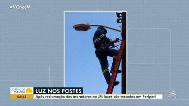 Obras são retomadas em Periperi após denúncia no JM - Uma nova escada, um corrimão e nova iluminação foram prometidos no local.