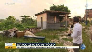 Moradores reclamam da falta de manutenção em praça no bairro do Lobato, em Salvador - A reportagem foi até o local conferir o problema. Envie sua denúncia para bmd@redebahia.com.br.