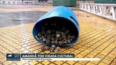 Preparação para a Virada Cultural já começou - Thiago Abravanel e Aline Barros mandam um recado para você