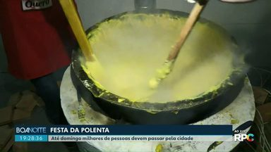 Começou mais uma festa da polenta em Santa Tereza do Oeste - De sexta até domingo, milhares de pessoas poderão conferir as delícias da festa.