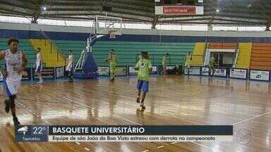 Basquete de São João da Boa Vista perde na estreia do Campeonato Universitário - Próxima partida é neste sábado contra a USP às 13h45 em São Paulo.