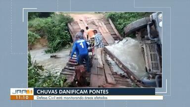 Chuvas destroem pontes e prejudica moradores no interior de Roraima - Defesa Civil mantém monitoramento em áreas de risco.