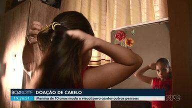 Menina de Cianorte doa 40 cm de cabelo para confecção de perucas - Isabelly cuidou do cabelo por 1 ano especialmente para fazer a doação