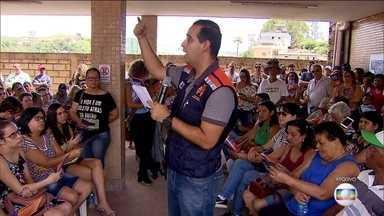Barão de Cocais (MG) tem simulado de fuga por risco de rompimento de barragem - Moradores estão em alerta desde o começo da semana, porque há risco de barragem da Vale se romper.