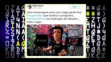 Tiago Leifert lê mensagens de internautas - Apresentador está se sentindo sozinho no programa e ganha homenagem